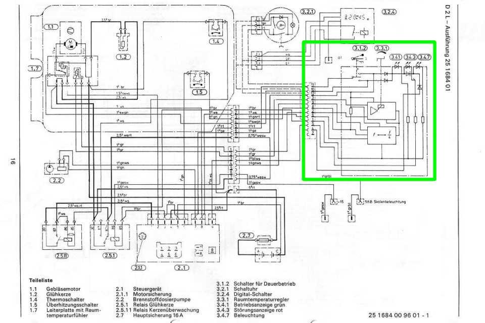 eberspacher d1lc compact wiring diagram
